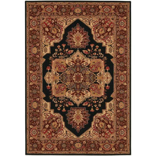 Couristan Everest Antique Sarouk Black 9 Ft. 2 In. X 12 Ft. 5 In. Rectangular Rug