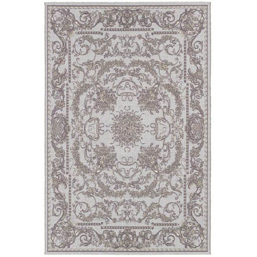 Couristan Dolce Sky Blue Rectangular: 5 Ft. 3 In. x 7 Ft. 6 In. Rug