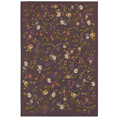 Couristan Dolce Gardenia Black Rectangular: 5 Ft. 3 In. x 7 Ft. 6 In. Rug