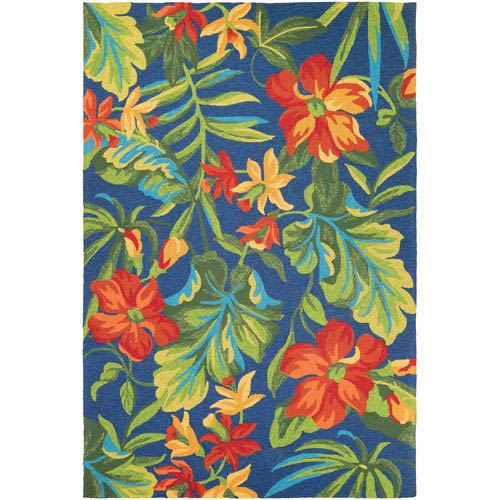 Covington Tropical Orchid Multicolor Rectangular: 2 Ft x 4 Ft Rug
