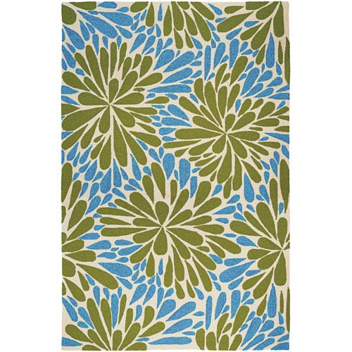 Couristan Covington Summer Siesta and Sand Rectangular: 5 Ft. 6 In. x 8 Ft. Rug
