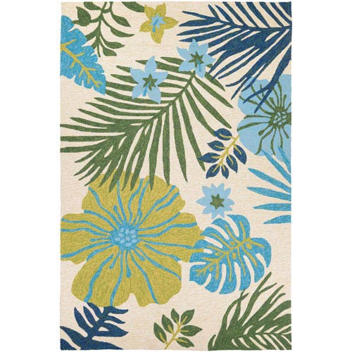 Covington Summer Laelia Ivory and Fern Rectangular: 2 Ft x 4 Ft Rug