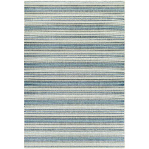 Monaco Marbella Ivory and Azure Rectangular: 7 Ft 6 In x 10 Ft 9 In Rug