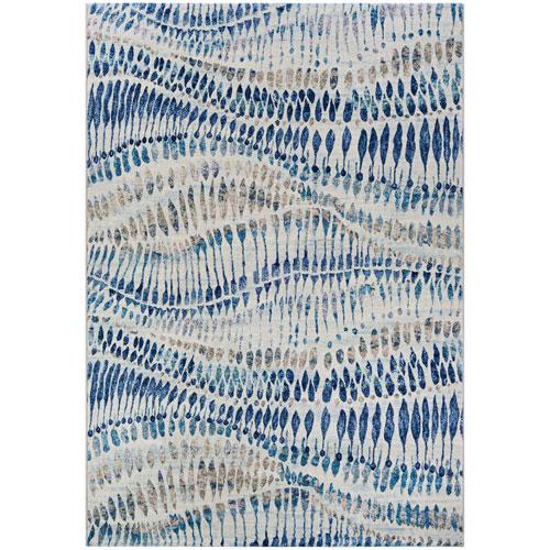 Easton Charles Blue Multicolor Rectangular: 2 Ft. x 3 Ft. 7 In. Rug
