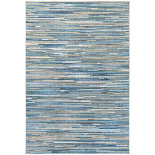 Monaco Alassio Sand and Azure Rectangular: 7 Ft 6 In x 10 Ft 9 In Rug