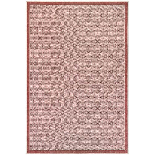 Monaco Sea Pier Sand and Maroon Rectangular: 7 Ft 6 In x 10 Ft 9 In Rug