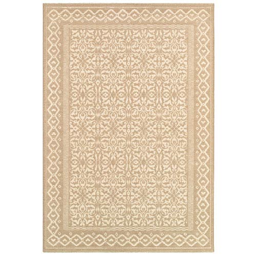 Couristan Marina Oyster Rectangular: 5 Ft. 3 In. x 7 Ft. 6 In. Rug