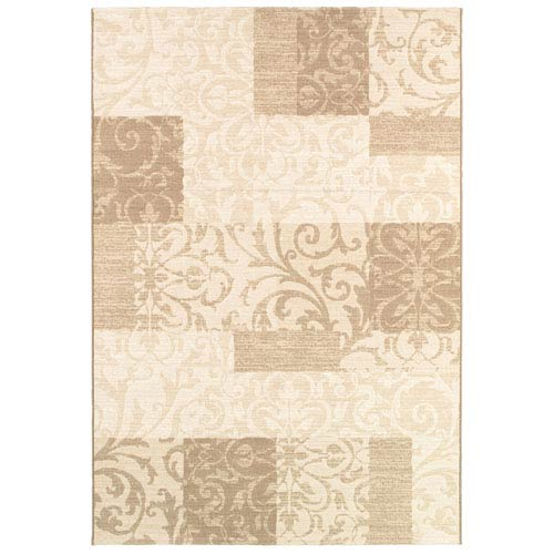 Couristan Marina Cyprus Pearl Rectangular: 5 Ft. 3 In. x 7 Ft. 6 In. Rug