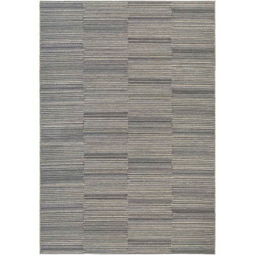 Cape Hyannis Black and Tan Rectangular: 6 Ft 6 In x 9 Ft 6 In Rug
