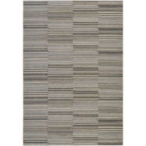 Cape Hyannis Black and Gold Rectangular: 6 Ft 6 In x 9 Ft 6 In Rug