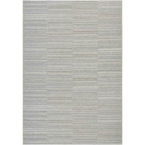 Cape Hyannis Gold and Light Blue Rectangular: 6 Ft 6 In x 9 Ft 6 In Rug