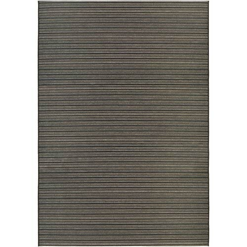 Cape Harwich Black and Tan Rectangular: 6 Ft 6 In x 9 Ft 6 In Rug