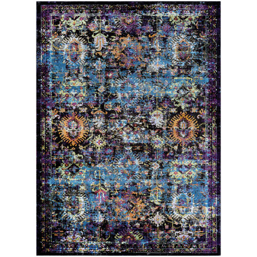 Gypsy Cologne Brown and Multicolor Rectangular: 3 Ft. 6 In. x 5 Ft. 6 In. Rug