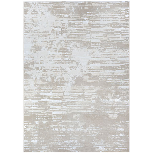 Serenity Cryptic Beige and Champagne Rectangular: 2 Ft. x 3 Ft. 11 In. Rug