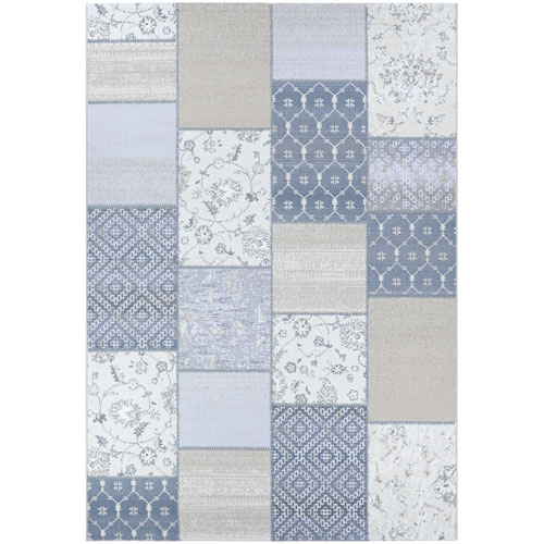 Marina Garden Patchwork Oyster and Pearl Rectangular: 2 Ft. x 3 Ft. 11 In. Rug