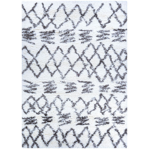Urban Shag Kaza White and Mink Rectangular: 2 Ft. x 3 Ft. 11 In. Rug