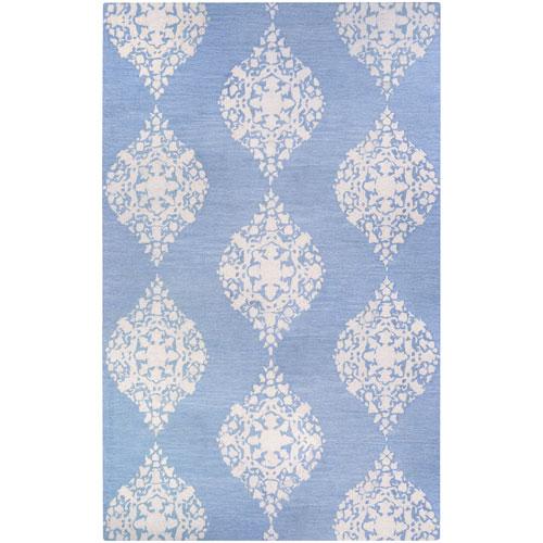Couristan Crawford Ornament Powder Blue Rectangular: 2 Ft. x 3 Ft. Rug