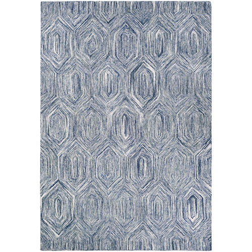 Couristan Crawford Princess Cut Denim and Ivory Rectangular: 2 Ft. x 3 Ft. Rug