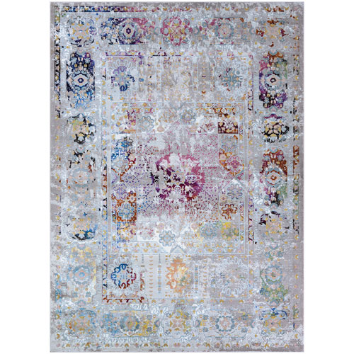Gypsy Reims Magenta and Bone Rectangular: 3 Ft. 6 In. x 5 Ft. 6 In. Rug