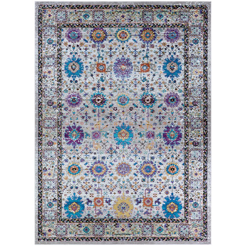 Gypsy Royale Mocha and Multicolor Rectangular: 3 Ft. 6 In. x 5 Ft. 6 In. Rug