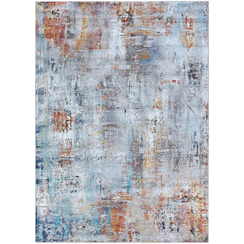 Gypsy Street Art Bone and Multicolor Rectangular: 3 Ft. 6 In. x 5 Ft. 6 In. Rug