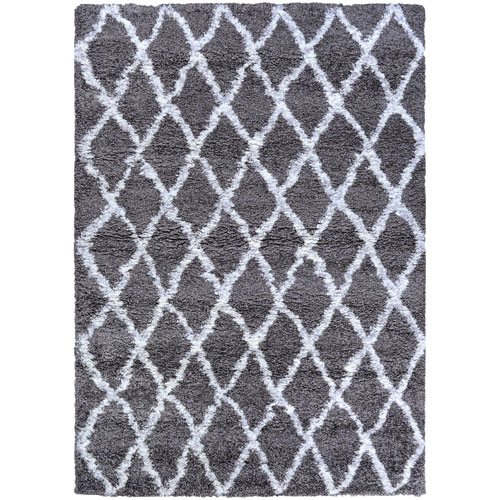 Couristan Urban Shag Temara Mink and White Rectangular: 2 Ft. x 3 Ft. 11 In. Rug