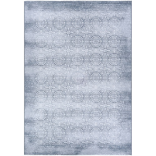 Couristan Marina Unison Slate Blue and Pearl Rectangular: 2 Ft. x 3 Ft. 11 In. Rug
