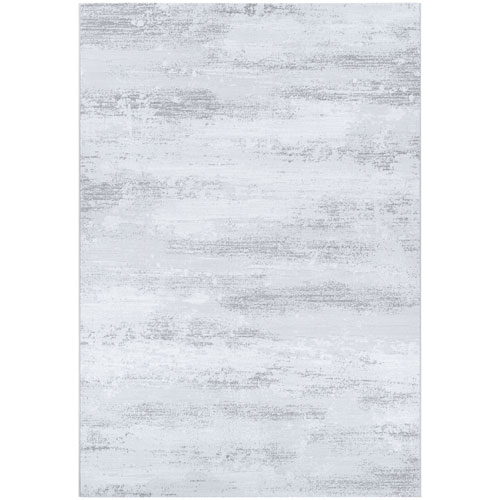 Serenity Virga Light Grey and Opal Rectangular: 7 Ft. 10 In. x 10 Ft. 9 In. Rug