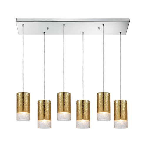 Tallula Polished Chrome Six-Light Pendant