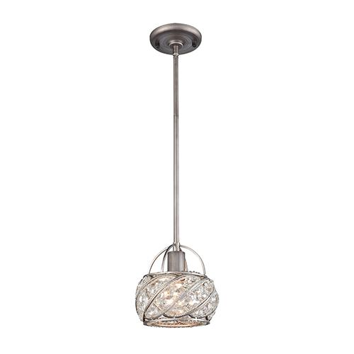Bradington Weathered Zinc One-Light Mini Pendant