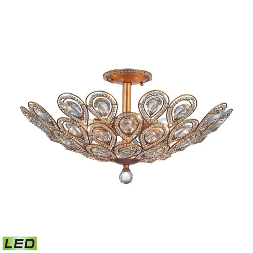 Elk Lighting Evolve Matte Gold LED Semi Flush Mount