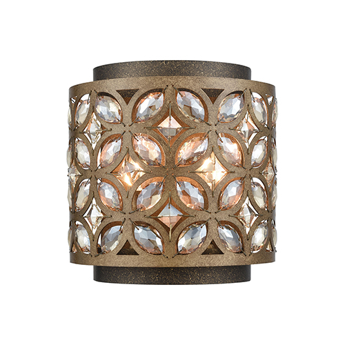 Rosslyn Mocha and Deep Bronze Two-Light Wall Sconce