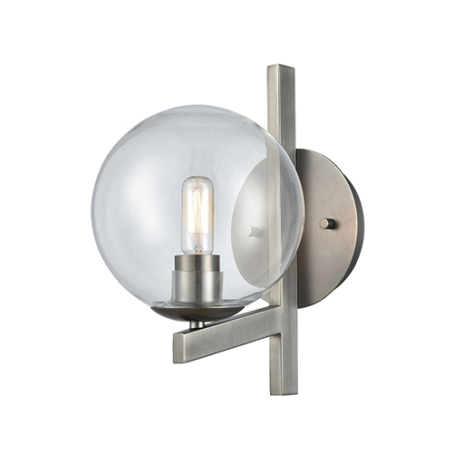 Globes of Light Brushed Black Nickel One-Light Wall Sconce