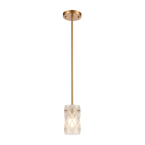 Jenning Satin Brass One-Light Mini Pendant