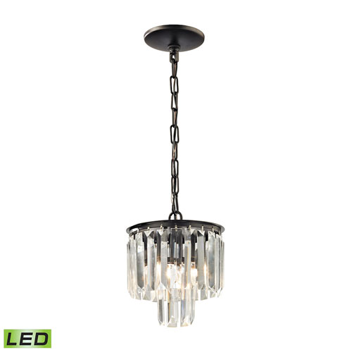 Palacial Oil Rubbed Bronze Eight-Inch LED Mini Pendant
