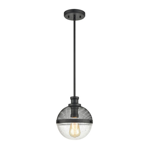 Calabria Matte Black One-Light Mini Pendant