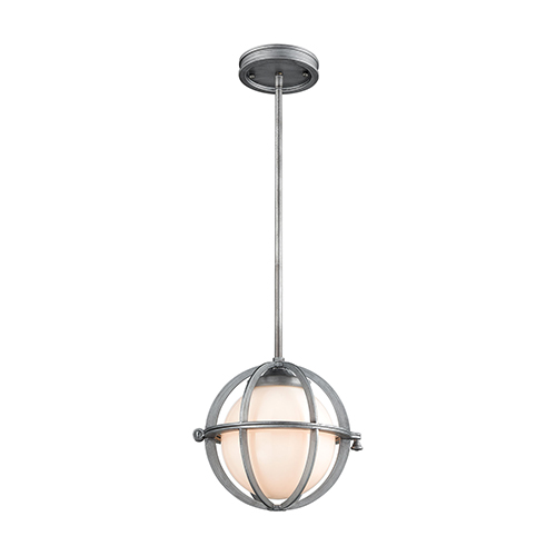 Aubridge Weathered Zinc 10-Inch One-Light Mini Pendant