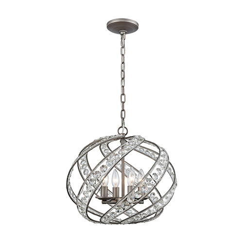 Renaissance Weathered Zinc Four-Light Pendant