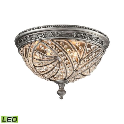 Elk Lighting Hamel: Elk Lighting Clayton Oil Rubbed Bronze 16 Inch LED Flush