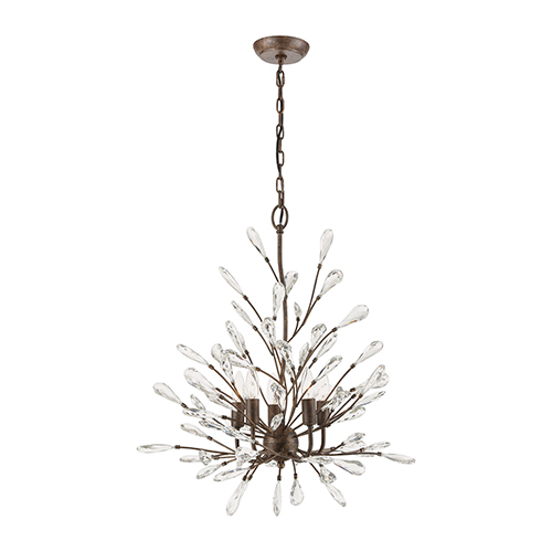 Crislett Sunglow Bronze Five-Light Chandelier