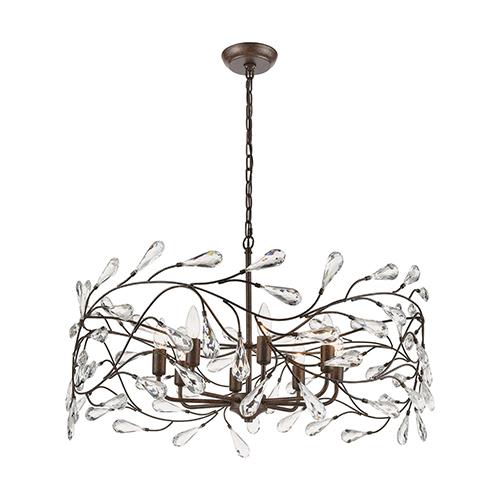 Crislett Sunglow Bronze Eight-Light Pendant