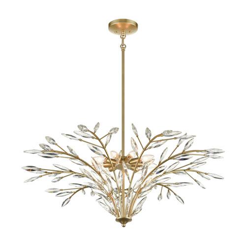 Flora Grace Champagne Gold Nine-Light Chandelier