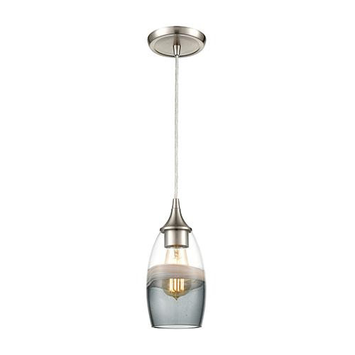 Sutter Creek Satin Nickel One-Light Five-Inch Mini Pendant