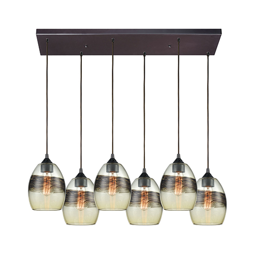 Elk Lighting Whisp Oil Rubbed Bronze Six-Light Pendant