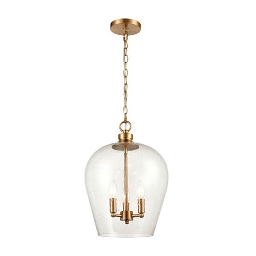 Darlene Satin Brass Three-Light Pendant
