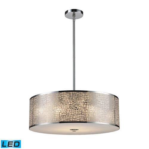 Elk Lighting Medina: Lite Source Torre Polished Steel Three Light Pendant Ls