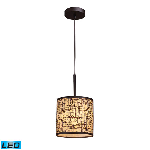 Elk Lighting Medina Aged Bronze LED Mini Pendant