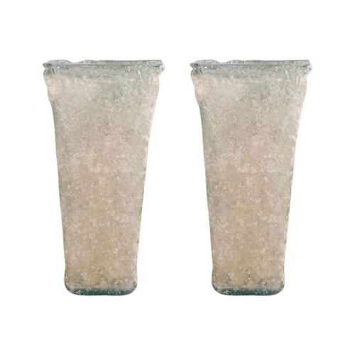 Inca Textured Smoke Vase, Set of Two
