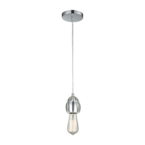 Socketholder Polished Chrome Four-Inch One-Light Mini Pendant