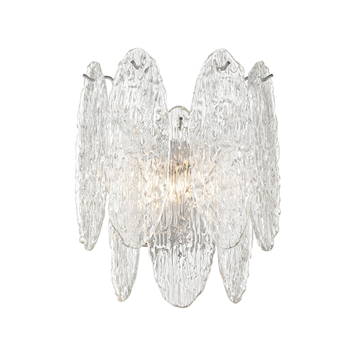 Frozen Cascade Polished Chrome Two-Light Wall Sconce